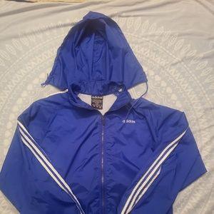 Vintage Adidas windbreaker hoodie